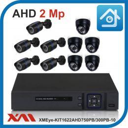 Комплект видеонаблюдения на 10 камер XMEye-KIT1622AHD750PB/300PB-10.
