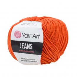 YarnArt Jeans 85 (оранжевый), 55%хлопок, 45% акрил, 50 гр.160 м