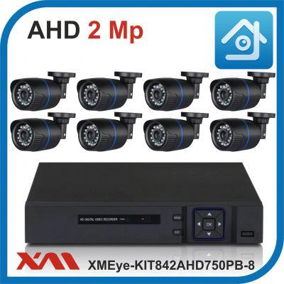Комплект видеонаблюдения на 8 камер XMEye-KIT842AHD750PB-8.