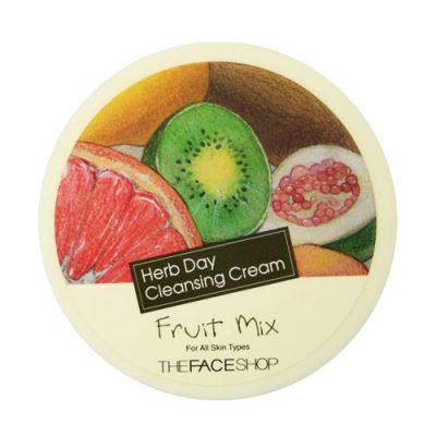 THE FACE SHOP Очищающий крем для лица фруктовый микс Herb Day Massage Cream Fruit Mix