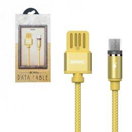 Кабель USB - microUSB магнитный Remax RC-095m Золото