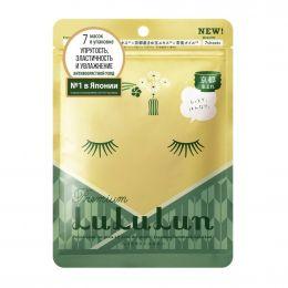 LuLuLun маска для лица увлажняющая и успокаивающая «Цветы Чая из Киото» Premium Face Mask Tea Flower 7 130г