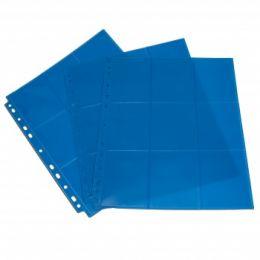 Лист двусторонний с кармашками 3х3 с боковой загрузкой - Blackfire (синий)