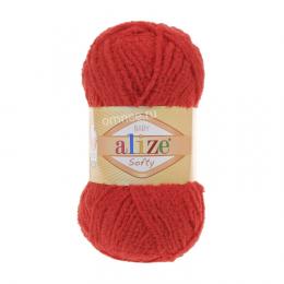 Alize Baby Softy цв.: 56 красный, микрополиэстер 100%, 50 гр. 115 м.