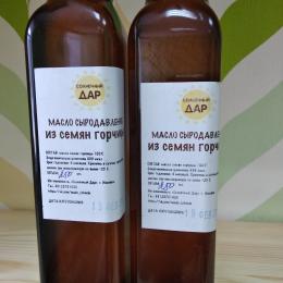 "Сыродавленое масло из семян горчицы ""Солнечный дар"" 250 мл."