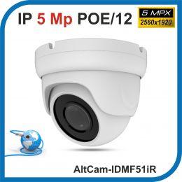AltCam IDMF51IR. POE/12.(Металл/Белая). 1920P. 5Mpx. Камера видеонаблюдения.