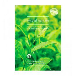 SECRET NATURE GREEN TEA MASK SHEET [DEEP MOISTURIZING] Суперувлажняющая маска с зеленым чаем