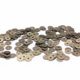 Пайетки плоские 736W Satinati 4 мм 3 гр (Италия)