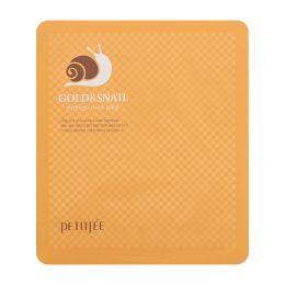 Petitfee Гидрогелевая маска для лица с золотом и улиточным муцином Gold & Snail Mask Pack