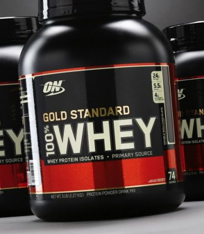 ON Gold standart 100% whey, банка 2,27кг. Delicious strawberry