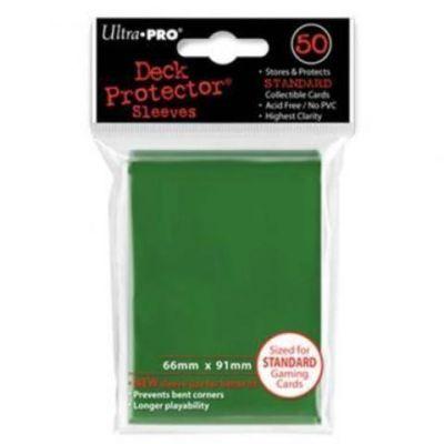 Цветные протекторы Ultra-Pro - Зеленые (50 шт.)