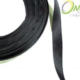 Лента репсовая 10 мм, 1 м, цв.:чёрный