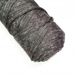 Шнур Cordee с серебряным люрексом, ПЭ4 мм, цв.: 03 серый