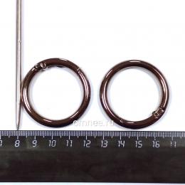 Карабин кольцо 31 мм(внутр.), цв.: чёрный никель, уп.2 шт.