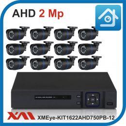 Комплект видеонаблюдения на 12 камер XMEye-KIT1622AHD750PB-12.