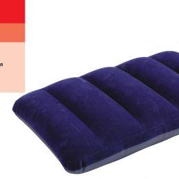 Intex Подушка 68672 (24) надувная, синяя, велюр, 48х32см [Коробка]