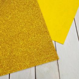Фетр глиттерный 1,2 мм 20х30 см, цв.: 04 золото