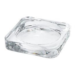 ГЛАСИГ Тарелка для свечи, прозрачное стекло, 10*10 см
