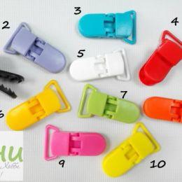 Клипсы пластиковые, цв. В ассортименте, 1,6х4 см (для лент шир. 2 см)