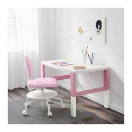 ПОЛЬ Письменный стол, белый, розовый 59/66/72 х 96 х 58 см