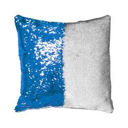 Подушка с пайетками 40*40см (синяя)