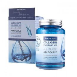 Сыворотка с гиалуроновой кислотой и коллагеном FarmStay Collagen and Hyaluronic 250 мл.