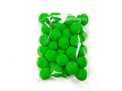 Помпоны 20 мм, уп. 30шт. цв.: зелёный