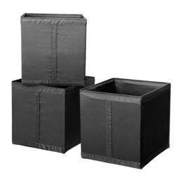 СКУББ Коробка, черный, 31 х 34 х 33 см, 1 шт