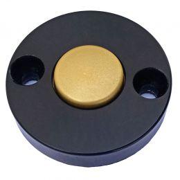 XMEye-EXIT-H4. Чёрный/золото. Кнопка выхода металлическая, накладная, НР.