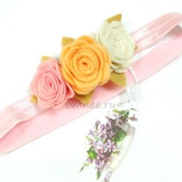 Повязка эластичная, цв. Розовый