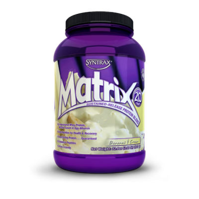 SYNTRAX Matrix 2.0 protein, банка 907г. Bananas cream
