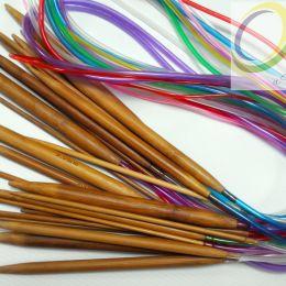Круговые бамбуковые спицы (на трубке), 100 см, № 2,75