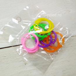 Маркеры круглые уп.10 шт. (метки) для вязания с замком (внутр.2 см)