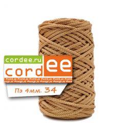 Шнур Cordee, ПЭ4 мм, цв.:34 бежевый