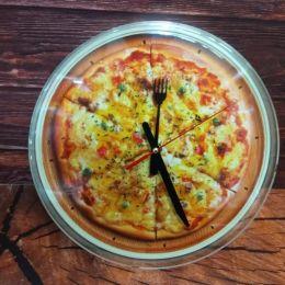 Часы настенные Пицца, 25см