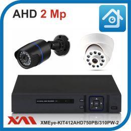 Комплект видеонаблюдения на 2 камеры XMEye-KIT412AHD750PB/310PW-2.