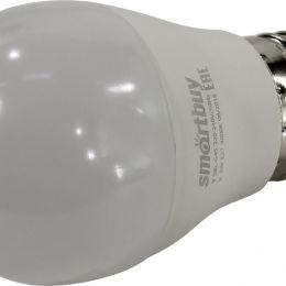 Лампочка SmartBuy светодиодная G45, холодный свет, цоколь E27, 4000 К, 9,5 Вт