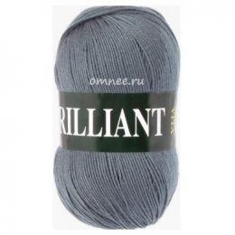 Vita Brilliant 4980 (серый), 45% шерсть luster, 55% акрил, 100 гр. 380 м.