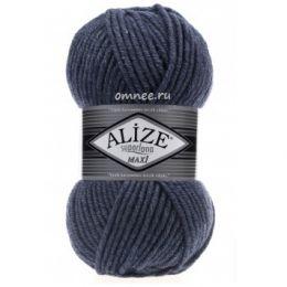 Alize Superlana Maxi 203 (джинс), 25% шерсть, 75% акрил, 100 гр. 100 м.