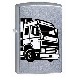 "Зажигалка ZIPPO ""207 European Truck"" с покрытием Street Chrome™, латунь/сталь, серебристая, матовая"