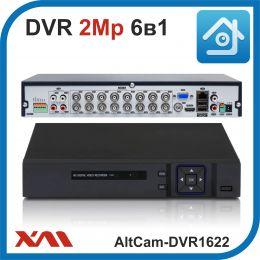 AltCam DVR1622. Видеорегистратор (AHD, XVI, CVI, TVI, CVBS, IP) 16В 6А.
