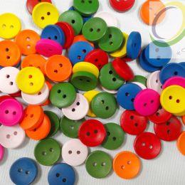Пуговицы дерево, круглые тарелочки , 15 мм, разные цвета