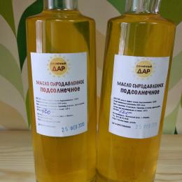 """Сыродавленое подсолнечное масло """"Солнечный дар"""" 500 мл."""