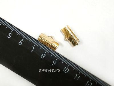 Зажим для лент, 16 мм, цв.:золото, шт.
