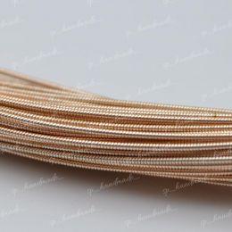 Канитель жесткая Rose Gold 1 мм 5 гр (Индия)
