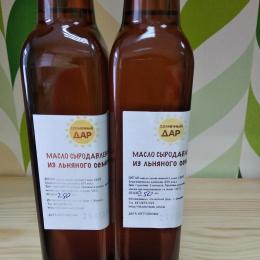 "Сыродавленое масло из семян льна ""Солнечный дар"" 250 мл."