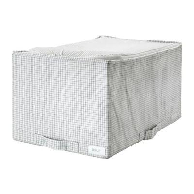 СТУК Сумка для хранения, белый/серый, 34 х 51 х 28 см