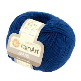 YarnArt Jeans 54 (т.синий), 55%хлопок, 45% акрил, 50 гр.160 м