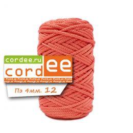 Шнур Cordee, ПЭ4 мм, цв.:12 коралловый