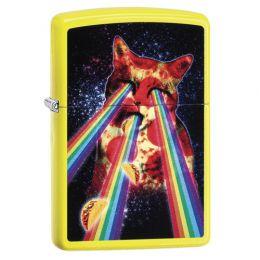 Зажигалка ZIPPO Classic с покрытием Neon Yellow, латунь/сталь, жёлтая, глянцевая